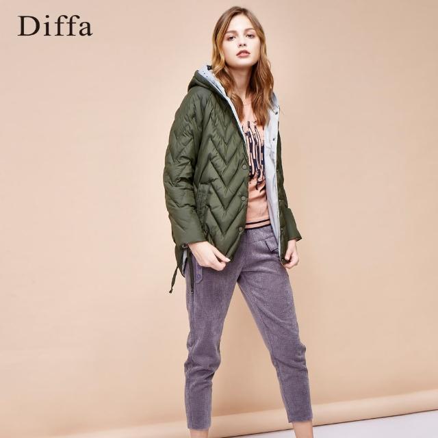 Diffa【Diffa】燈芯絨設計老爺褲