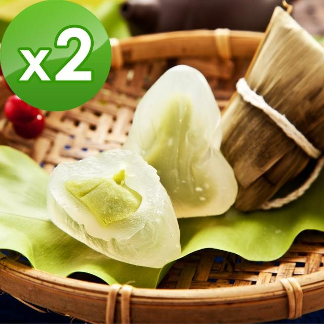 【樂活e棧】包心冰晶Q粽子-抹茶2包(6顆/包)