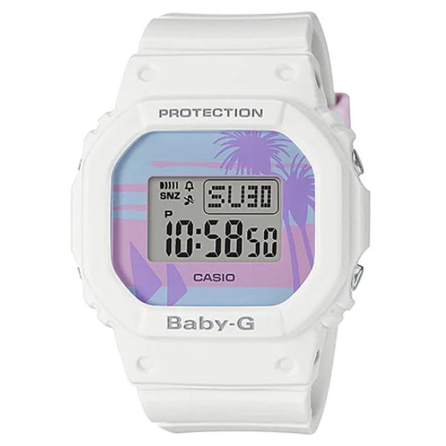 【CASIO 卡西歐】卡西歐Baby-G 少女時代電子錶-白(BGD-560BC-7 台灣公司貨)