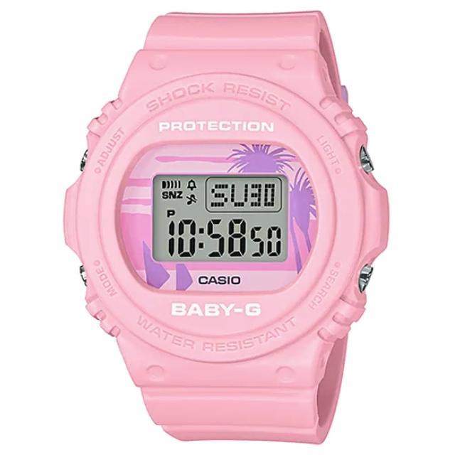 【CASIO 卡西歐】卡西歐Baby-G 少女時代電子錶-粉紅(BGD-570BC-4 台灣公司貨)