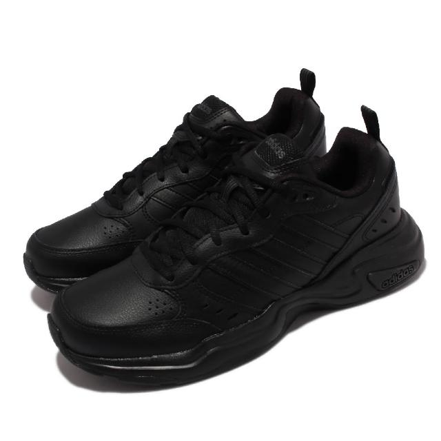 【adidas 愛迪達】休閒鞋 Strutter 基本款 運動 男女鞋 海外限定 愛迪達 皮革 舒適避震 情侶款 黑(EG2656)
