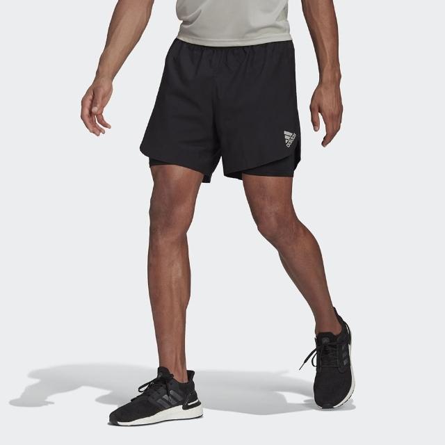 【adidas 愛迪達】短褲 男款 運動 健身 慢跑 P.BLUE SHORT M 黑 GN5706