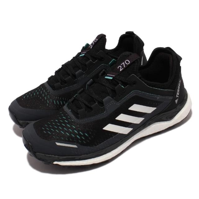 【adidas 愛迪達】慢跑鞋 Terrex Agravic Flow 女鞋 海外限定 愛迪達 Boost避震 越野鞋款 黑白(FX7155)