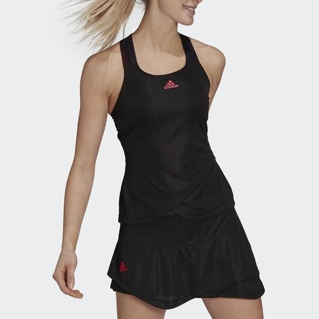 【adidas 愛迪達】背心 女款 運動 健身 慢跑 Y-TANK PB D 黑 GP7847
