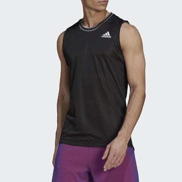 【adidas 愛迪達】背心 男款 運動 健身 慢跑 三葉草 T SLEEVELESS PB 黑 GP7834