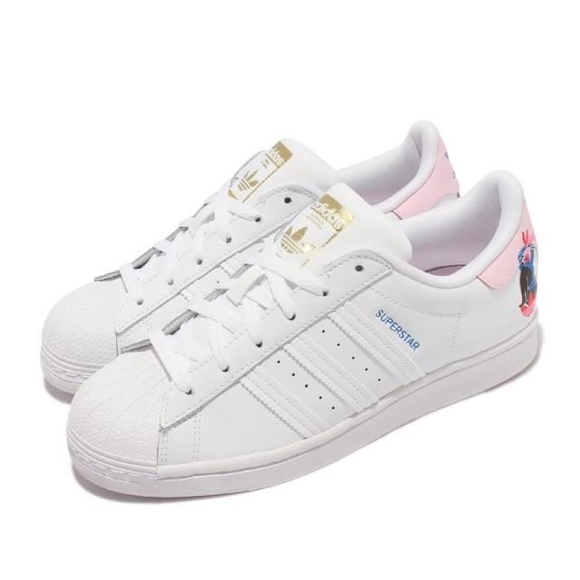 【adidas 愛迪達】休閒鞋 Egle Superstar W 聯名 女鞋 海外限定 愛迪達 貝殼頭 皮革 塗鴉 穿搭 白(Q47223)