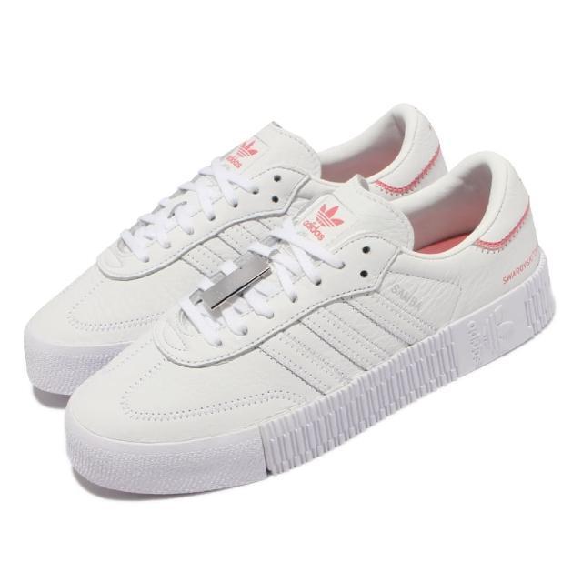 【adidas 愛迪達】休閒鞋 Sambarose 聯名 運動 女鞋 愛迪達 環保材質 施華洛世奇 穿搭 白 粉(H05131)