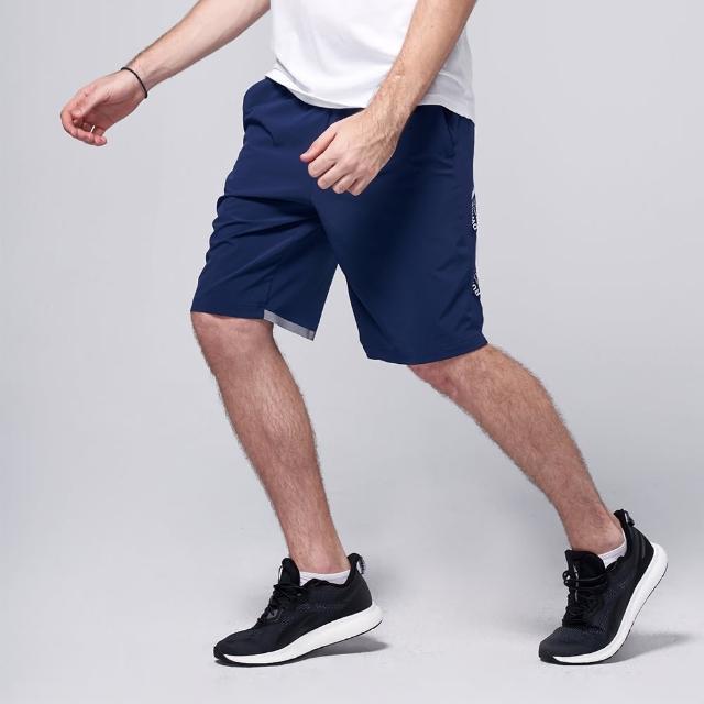 【BATIS 巴帝斯】彈性城市印花運動短褲 - 男 - 兩色(丈青 黑)