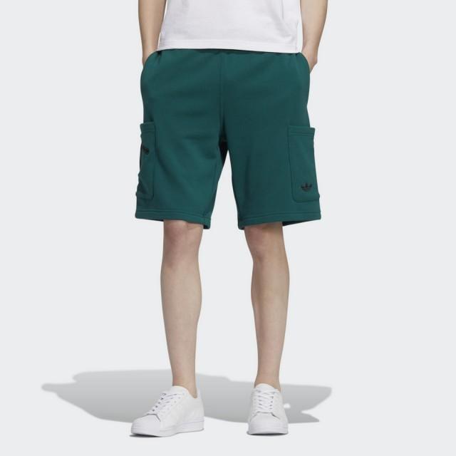 【adidas 愛迪達】運動短褲 DISNEY PIXAR 熊抱哥 男款 綠(HD9082)