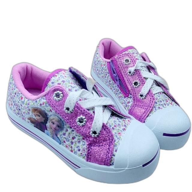 【樂樂童鞋】台灣製冰雪奇緣2休閒鞋-紫色-F073-1(女童鞋 休閒鞋 布鞋 運動鞋)