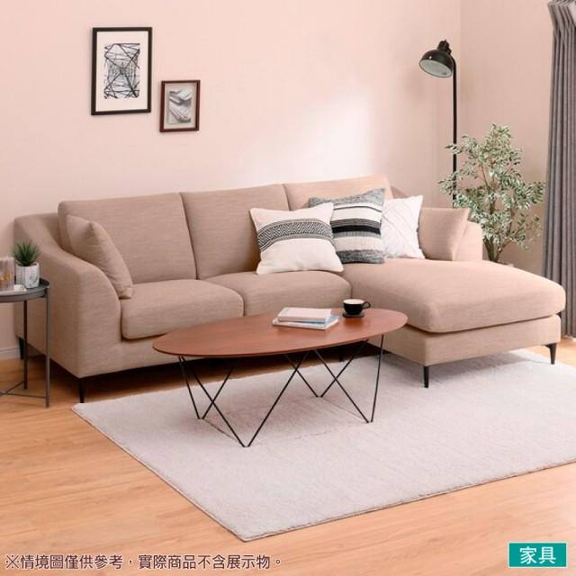 【NITORI 宜得利家居】◎布質左躺椅L型沙發 N-POCKET A15 DR-BE(L型沙發 角落沙發 躺椅沙發)