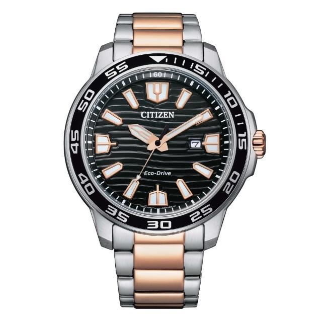 【CITIZEN 星辰】流線時光光動能腕錶(AW1524-84E)