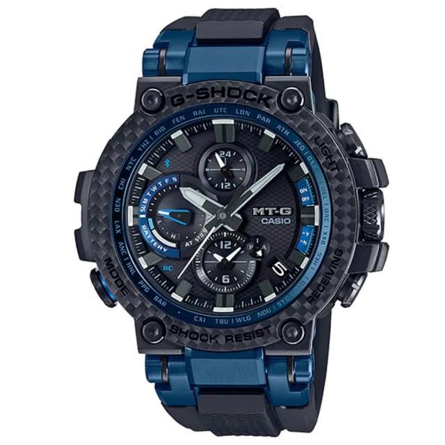 【CASIO 卡西歐】MT-G系列 碳纖維強化樹脂維核心防護 藍牙多功能腕錶(MTG-B1000XB-1A)
