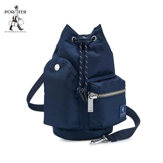 【PORTER INTERNATIONAL】POD束口兩用水桶包(全蝕藍)