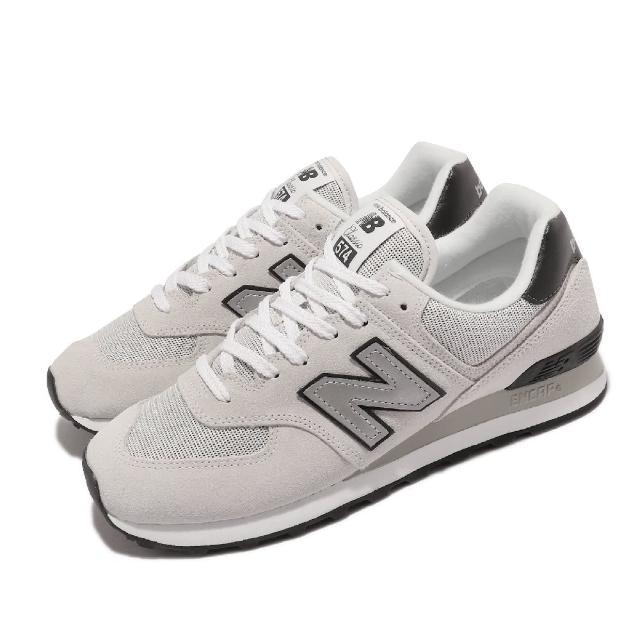 【NEW BALANCE】休閒鞋 574 復古 基本款 男鞋 紐巴倫 N字鞋 麂皮 穿搭 情侶鞋 灰 黑(ML574BH2-D)