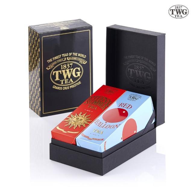 【TWG Tea】時尚茶罐雙入禮盒組_盛夏緋紅100g/罐+乘風高翔100g/罐(Haute Couture Style Gift Box)