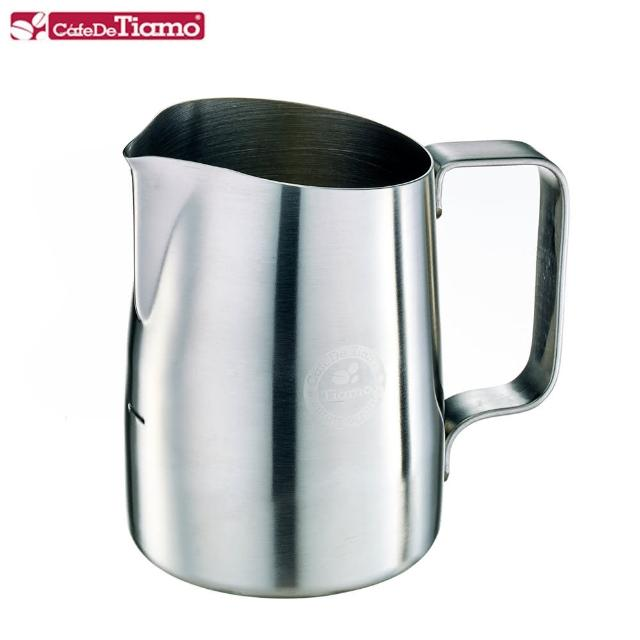 【Tiamo】斜口拉花杯450cc-尖口設計砂光(HC7107ST)