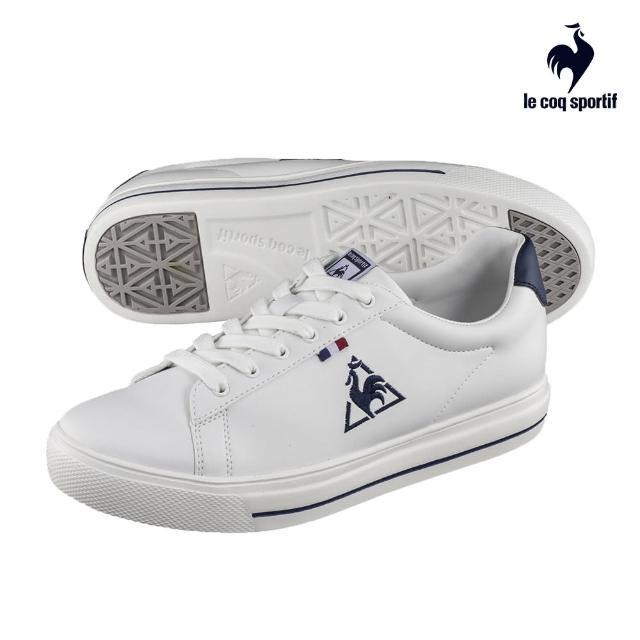 【LE COQ SPORTIF 公雞】運動鞋 網球鞋 男/女鞋-白 藏青刺繡-LJN7321139