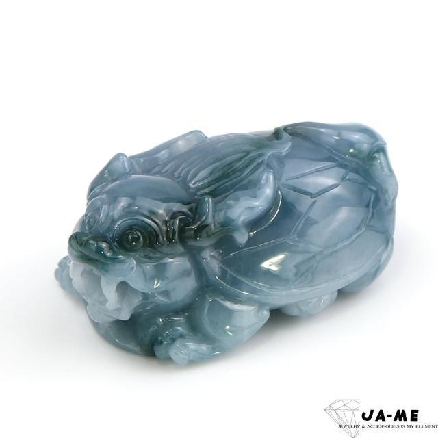 【JA-ME】天然A貨翡翠藍紫飄綠花龍龜項鍊