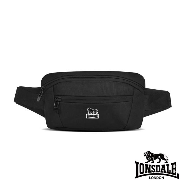 【LONSDALE 英國小獅】率性潮流系列-腰包/肩包(黑色 LD1612)