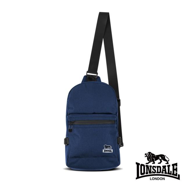 【LONSDALE 英國小獅】率性潮流系列-多隔層單肩包(深藍色 LD1613)