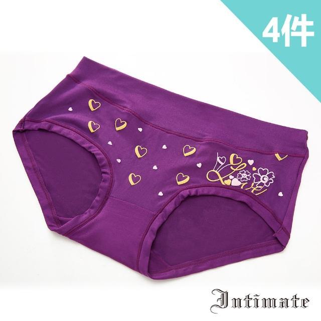 【Intimate 內著】新柔感超舒適彈力包臀內褲-愛心(特惠4件組)