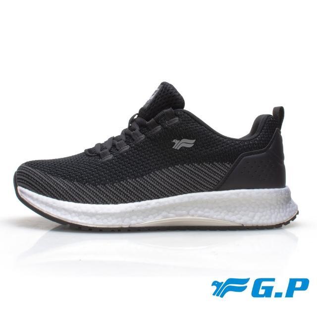 【G.P】男款 超輕彈力球運動休閒鞋P6945M-黑色(SIZE:39-44 共二色)