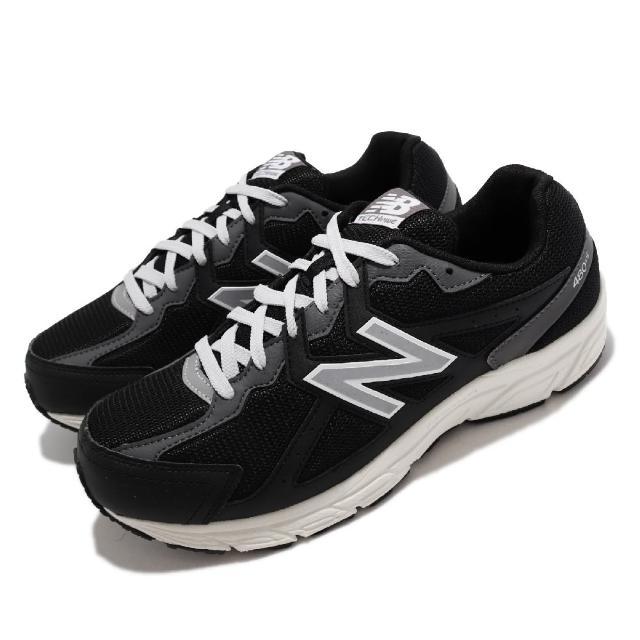 【NEW BALANCE】慢跑鞋 480 V5 4E 超寬楦 男女鞋 紐巴倫 輕便跑鞋 耐磨 基本款 情侶鞋 黑 白(W480KB54E)