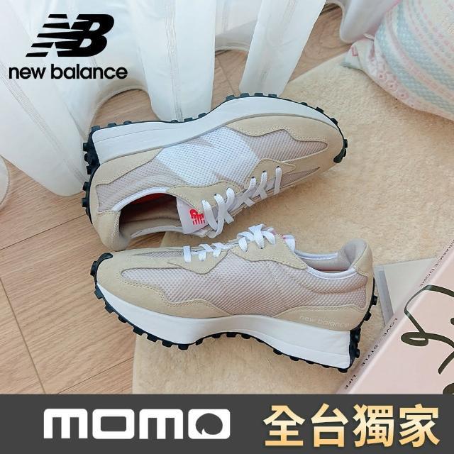 【NEW BALANCE】NB 復古運動鞋_女鞋_奶茶杏_WS327HD-B楦(網路獨家款)