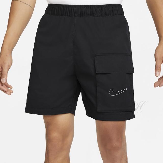 【NIKE 耐吉】短褲 男款 運動 AS M NSW SHORT WAFFLE 2 黑 DD6504-010
